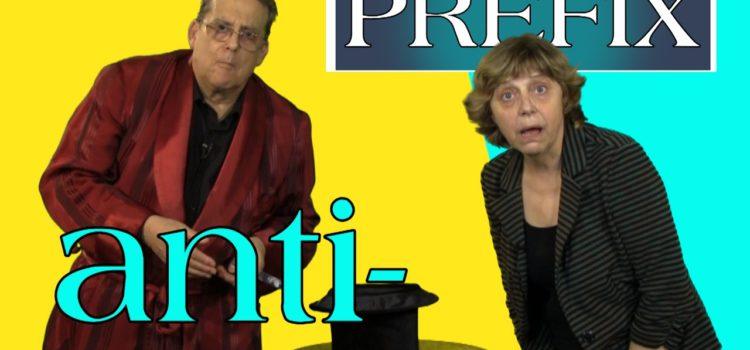 The prefix anti-