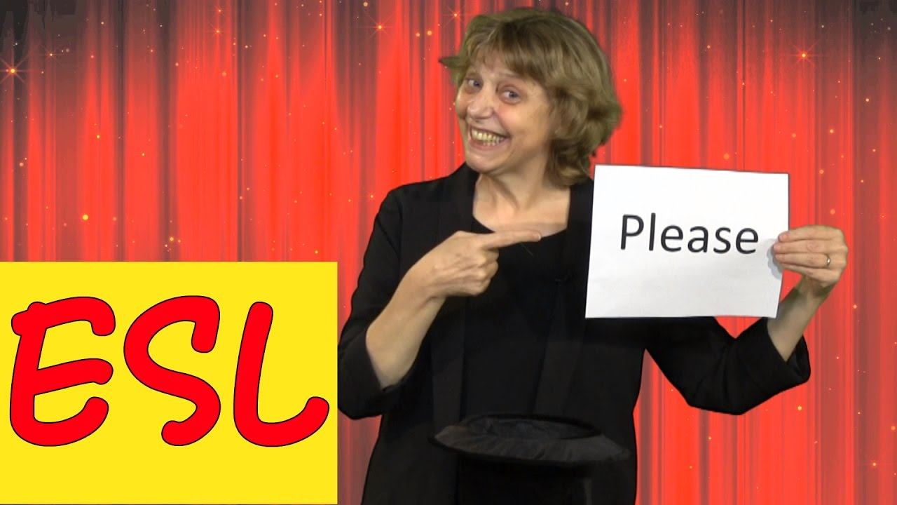How to use the magic word 'please' politely in English