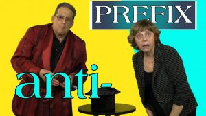 The three meanings of the English prefix anti-