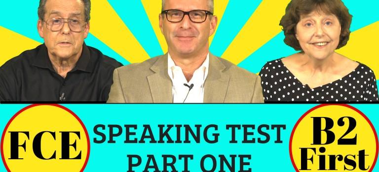 FCE speaking part 1 B2 First