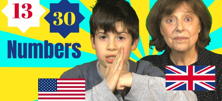 pronouncing numbers in British and American English