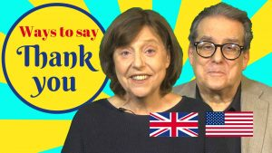 how to say thank you in English conversation