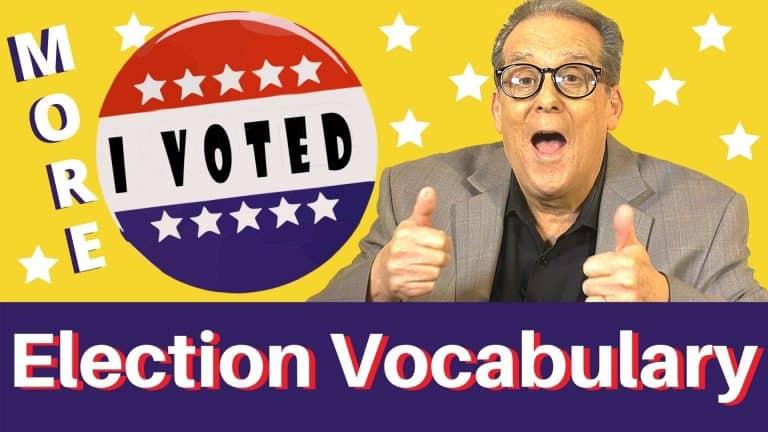US election English vocabulary